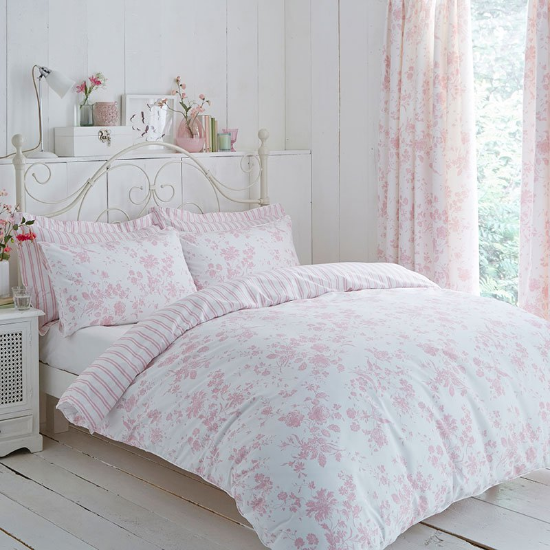 Charlotte Thomas Amelie Toile Bed Set In Pink