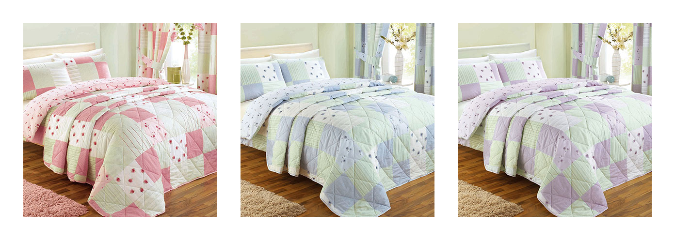 Dreams and Drapes Patchwork Bedding