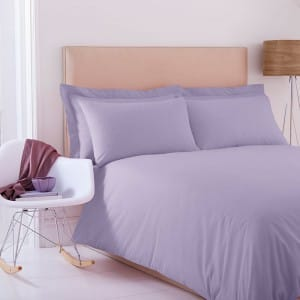 Plain Duvet Set in Lilac