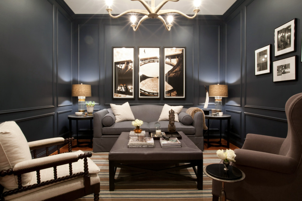 Masculine-style living room