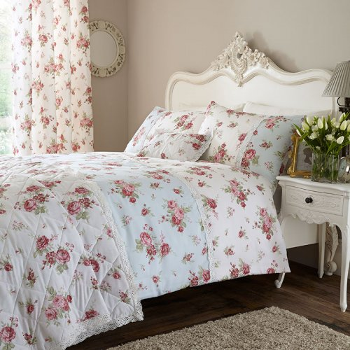 Catherine Lansfield Annabella Bedspread In Red Amp White