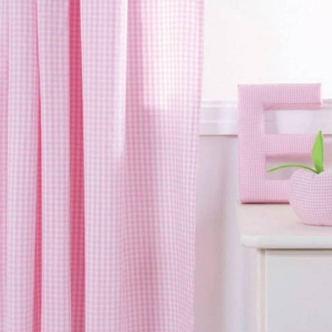 Babyface Girls' Gingham Pencil Pleat Curtains