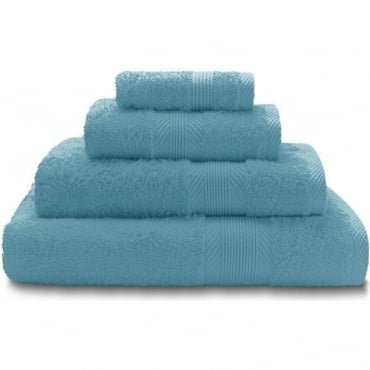 100% Cotton Plain Towels in Aqua Blue