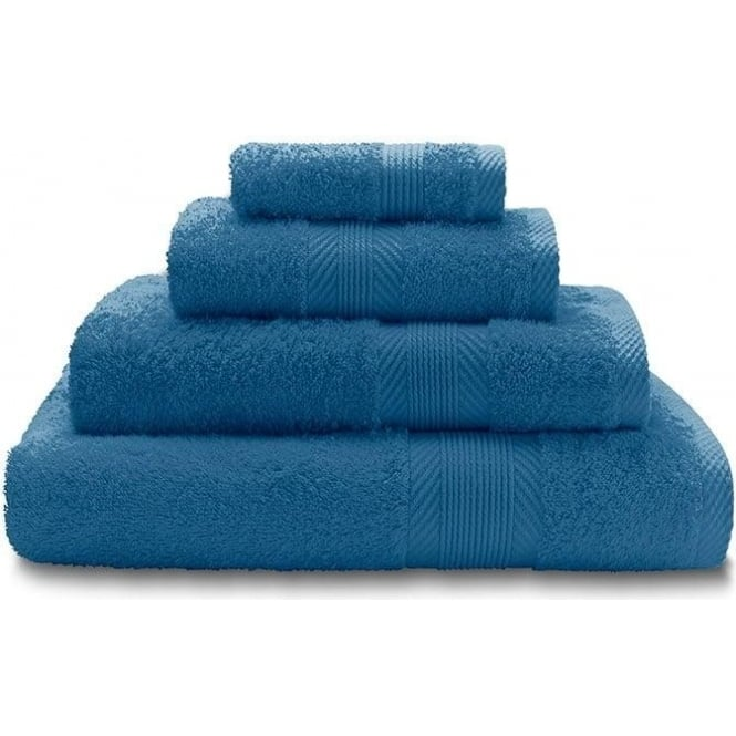 Catherine Lansfield 100% Cotton Plain Towels in Cobalt Blue