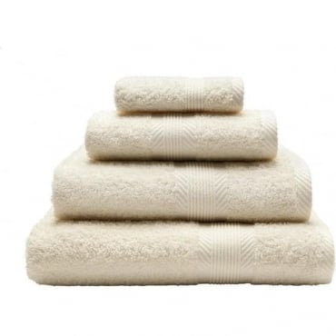 100% Cotton Plain Towels in Cream