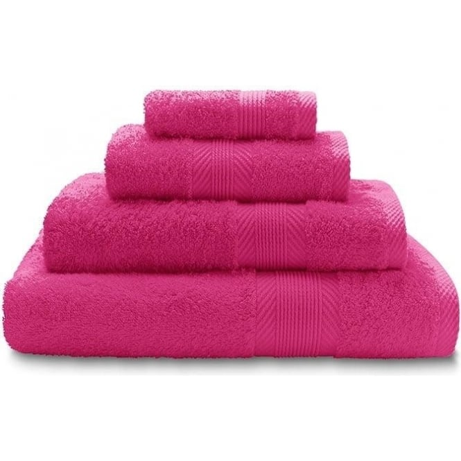 Catherine Lansfield 100% Cotton Plain Towels in Hot Pink