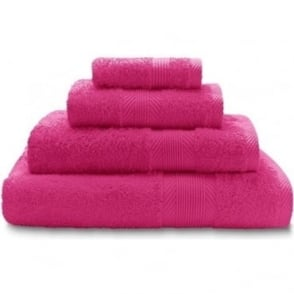 100% Cotton Plain Towels in Hot Pink