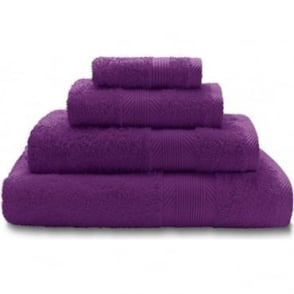 100% Cotton Plain Towels in Purple