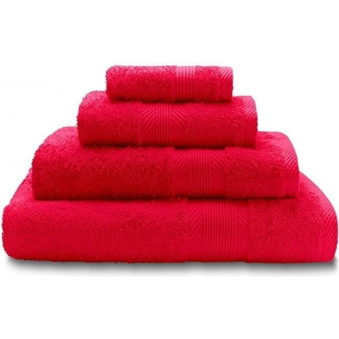 Catherine Lansfield 100% Cotton Plain Towels in Red