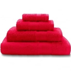 100% Cotton Plain Towels in Red