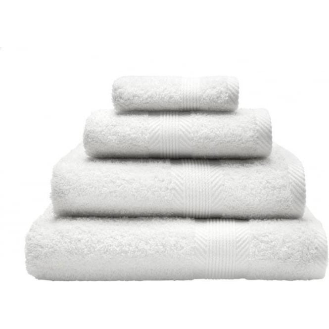 Catherine Lansfield 100% Cotton Plain Towels in White