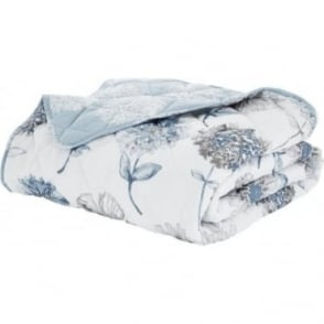 Banbury Floral Bedspread in Blue