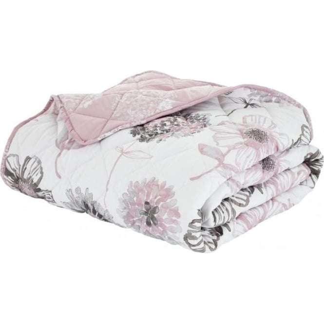 Catherine Lansfield Banbury Floral Bedspread in Pink