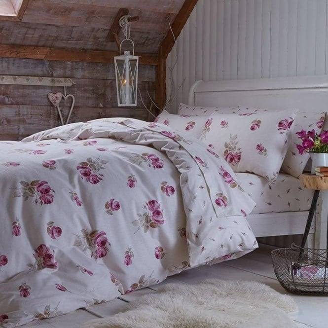 Catherine Lansfield Brushed Floral Duvet Set