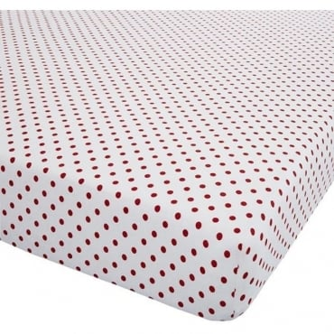 Brushed Hearts Fitted Sheet