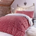 Catherine Lansfield Brushed Hearts Fitted Sheet