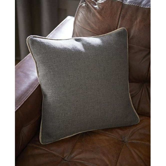 Catherine Lansfield Brushed Heritage Plain Cushion Cover in Grey