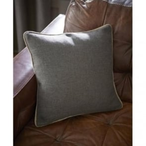 Brushed Heritage Plain Cushion Cover in Grey