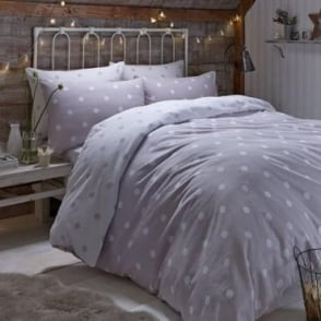 Brushed Polka Dot Duvet Set in Natural