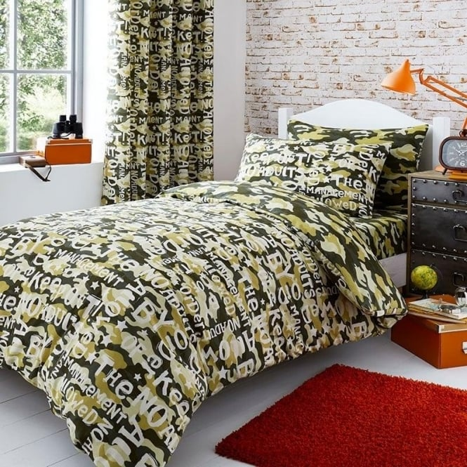 Catherine Lansfield Camouflage Duvet Set