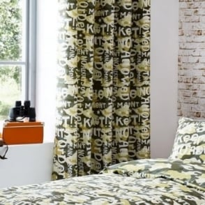 Camouflage Eyelet Curtains