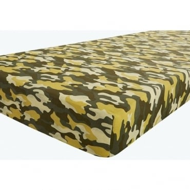 Camouflage Fitted Sheet