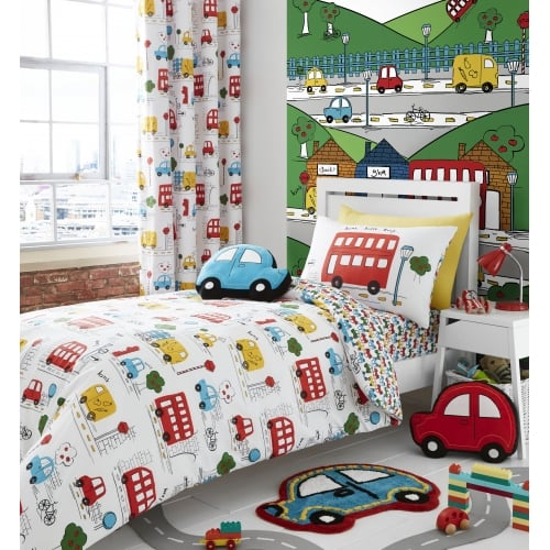 Catherine Lansfield Kids Girls Boys Tape Top Pair Fully: Catherine Lansfield Car Shaped Rug