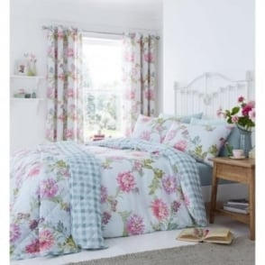 Chrysanthemum Check Duvet Set