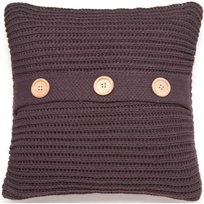 Catherine Lansfield Chunky Knit Cushion Cover in Charcoal Grey