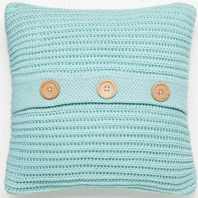 Catherine Lansfield Chunky Knit Cushion Cover in Duck Egg Blue