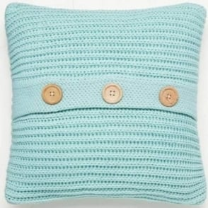 Chunky Knit Cushion Cover in Duck Egg Blue