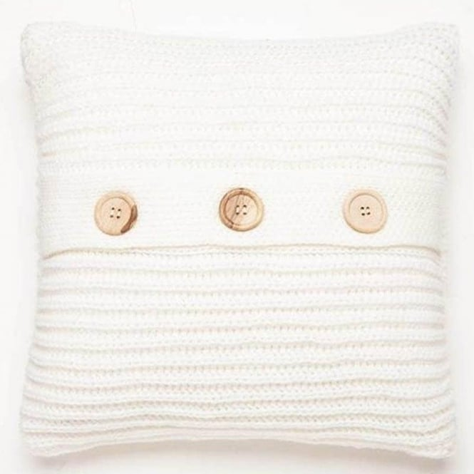 Catherine Lansfield Chunky Knit Cushion Cover in White