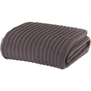 Chunky Knit Throw in Charcoal Grey