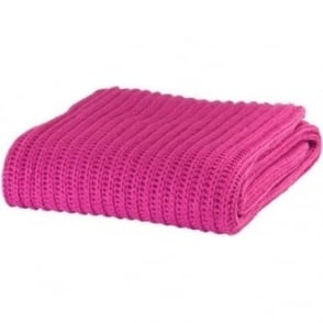 Chunky Knit Throw in Pink