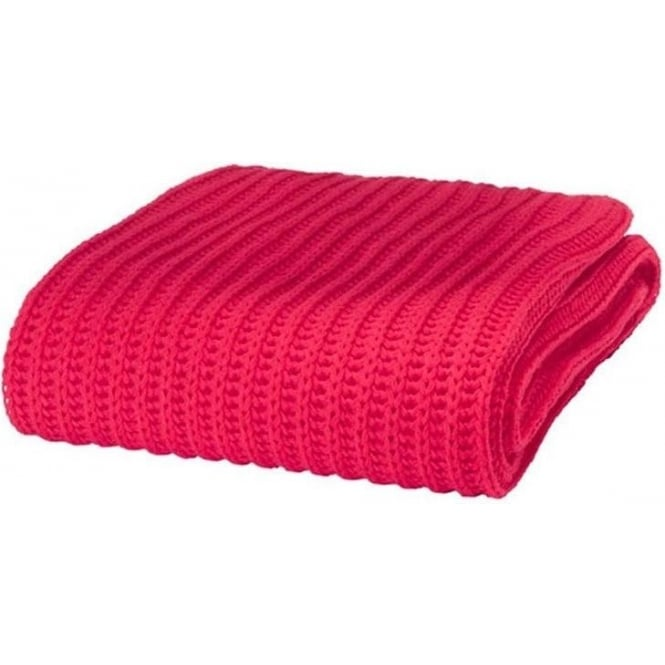 Catherine Lansfield Chunky Knit Throw in Red