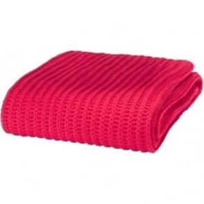 Chunky Knit Throw in Red