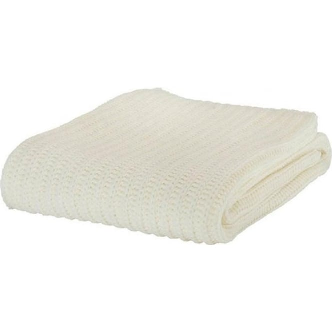 Catherine Lansfield Chunky Knit Throw in White