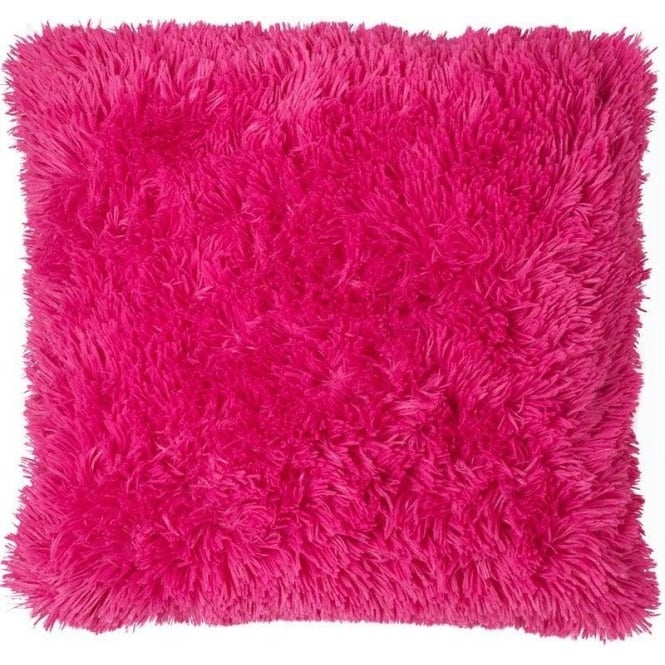 Catherine Lansfield Cuddly Cushion Cover in Hot Pink