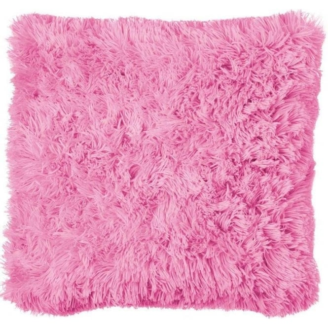 Catherine Lansfield Cuddly Cushion Cover in Light Pink
