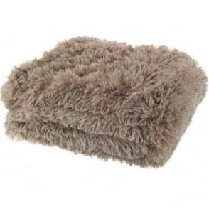Cuddly Throw in Beige