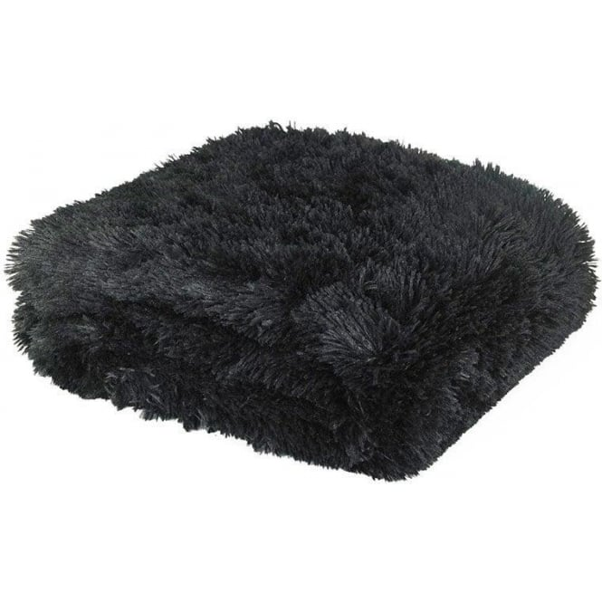Catherine Lansfield Cuddly Throw in Black