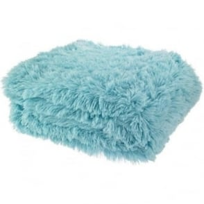 Cuddly Throw in Duck Egg Blue