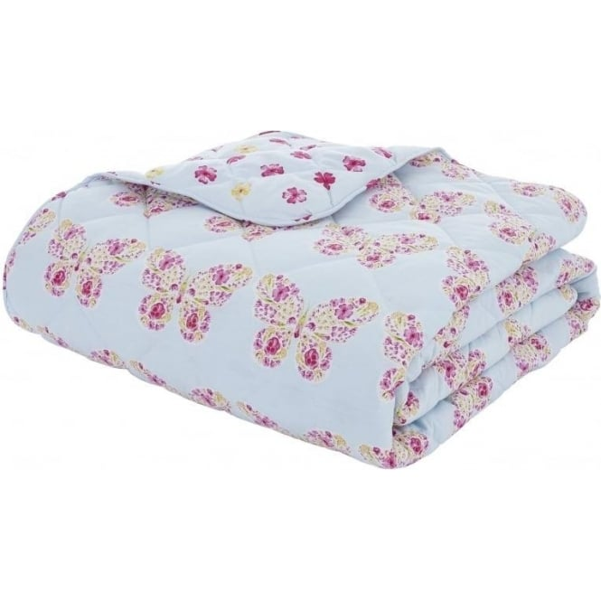Catherine Lansfield Embroidered Butterfly Bedspread