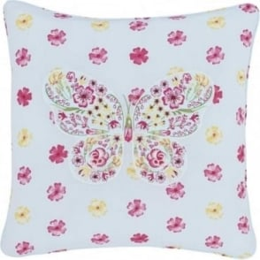 Embroidered Butterfly Cushion Cover
