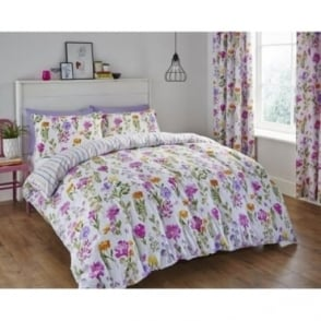 Floral Meadow Duvet Set in Pink