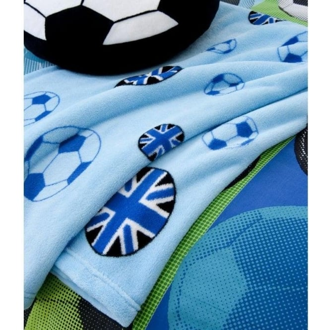 Catherine Lansfield Football Fleece Throw