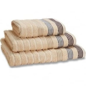 Garrat Stripe Towels in Beige