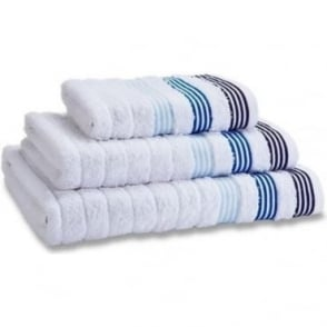 Garrat Stripe Towels in White