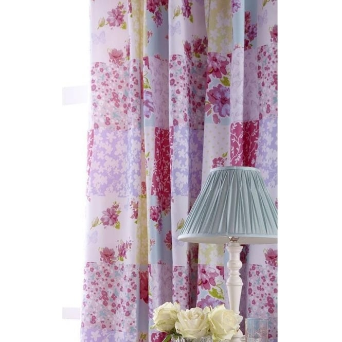 Catherine Lansfield Gypsy Patchwork Pencil Pleat Curtains