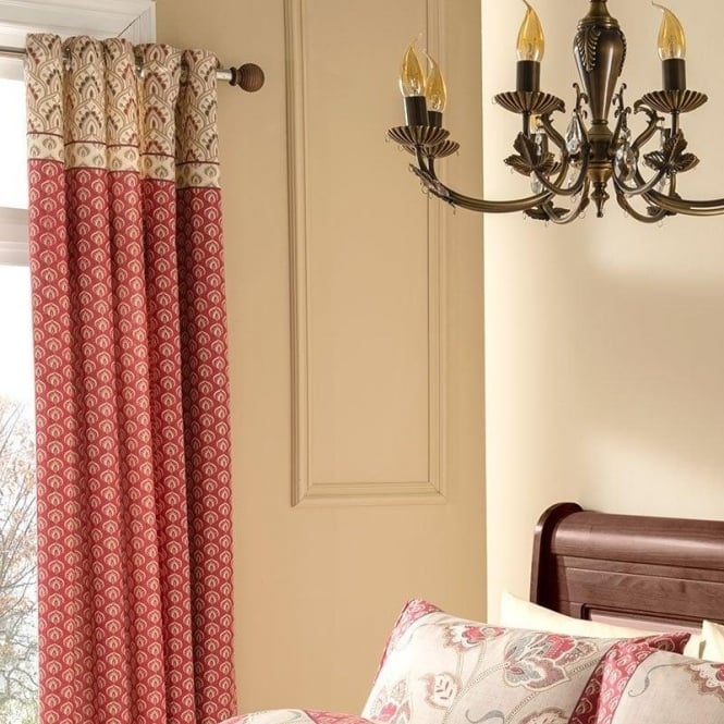 Catherine Lansfield Kashmir Eyelet Curtains